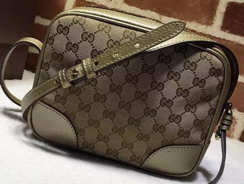 Gucci Bree Original GG Canvas mini Messenger Bag 387360 Gold