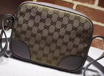 Gucci Bree Original GG Canvas mini Messenger Bag 387360 Grey