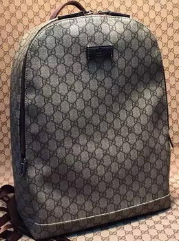 Gucci GG Canvas Backpack 353476 Brown