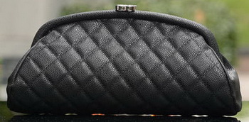 Chanel Clutch Cannage Pattern A32342 Black