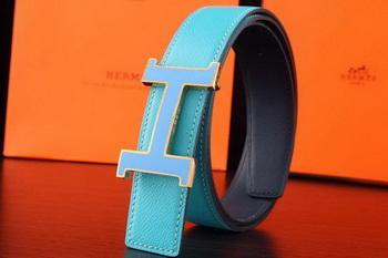 Hermes Belt H3031G SkyBlue