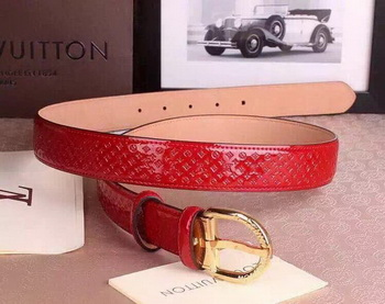 Louis Vuitton Monogram Vernis Belt LV4768 Red