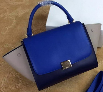 Celine mini Trapeze Bag Original Leather CTA3345 Blue&Black&Khaki