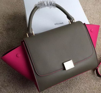 Celine mini Trapeze Bag Original Nubuck Leather CTA3345 Khaki&Rose