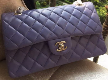 Chanel 2.55 Series Flap Bag Lavender Original Leather A01112 Silver