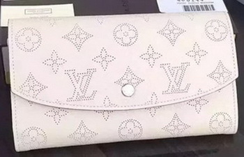 Louis Vuitton Mahina Leather IRIS Wallet M60144 OffWhite