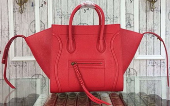 Celine Luggage Phantom Bags Original Leather 99012 Red