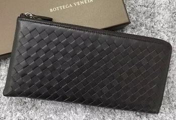 Bottega Veneta Intrecciato Leather Clutch BV144077 Brown