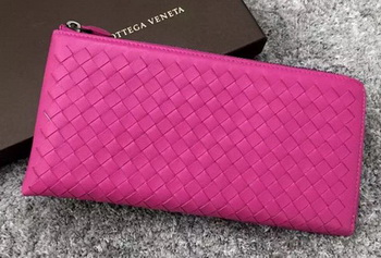 Bottega Veneta Intrecciato Leather Clutch BV144077 Rose