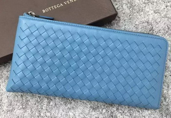 Bottega Veneta Intrecciato Leather Clutch BV144077 SkyBlue