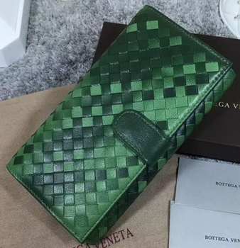 Bottega Veneta Intrecciato Nappa Continental Wallet BV1821 Green