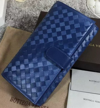 Bottega Veneta Intrecciato Nappa Continental Wallet BV1821 Royal