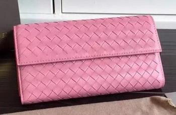 Bottega Veneta Intrecciato Nappa Tri-Flod Wallet BV150507 Pink