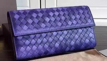 Bottega Veneta Intrecciato Nappa Tri-Flod Wallet BV1505071 Violet