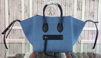 Celine Luggage Phantom Tote Bag Jean Jacket CT3341 Blue