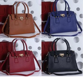 Ferragamo Large Gancio Tote Bag Calfskin leather SF3682