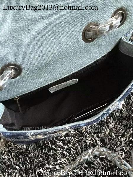 Chanel Classic Flap Bag Denim A66777 Blue
