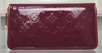 Louis Vuitton Monogram Vernis Zippy Wallet M90227 Purple