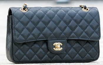 Chanel 2.55 Series Flap Bag Black Cannage Pattern A1112 Silver