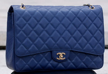Chanel Maxi Quilted Classic Flap Bag Royal Cannage Pattern A58601 Gold