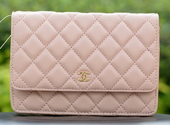 Chanel mini Flap Bags Pink Sheepskin Leather A33814 Gold