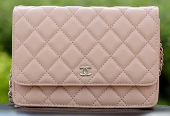 Chanel mini Flap Bags Pink Sheepskin Leather A33814 Silver