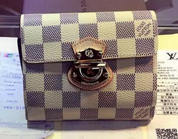 Louis Vuitton Damier Azur Canvas JOEY WALLET N60030