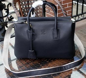 MCM Milla Tote Bag Calfskin Leather MCM1180 Black