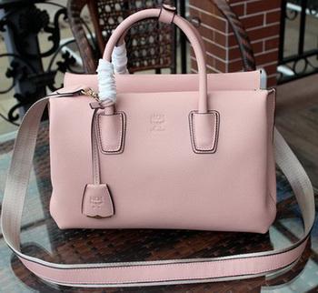 MCM Milla Tote Bag Calfskin Leather MCM1180 Light Pink