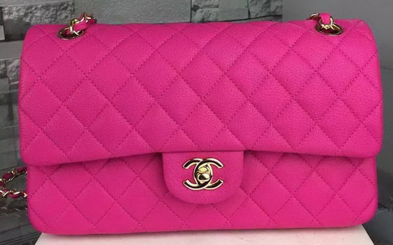 Chanel 2.55 Series Flap Bag Deerskin Leather A1112 Rose