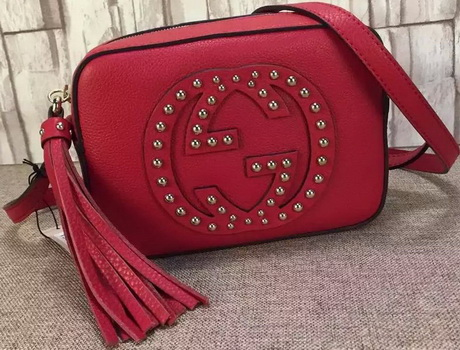 Gucci Soho Calfskin Leather Disco Bag 308364 Red