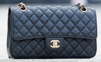 Chanel 2.55 Series Flap Bag Black Cannage Pattern A1112 Gold