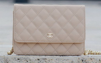 Chanel mini Flap Bag Apricot Cannage Pattern A33814 Gold