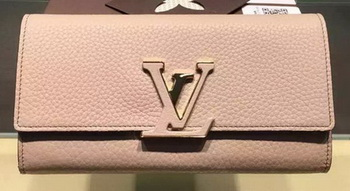 Louis Vuitton Litchi Leather LOUISE WALLET M60766 Light Pink