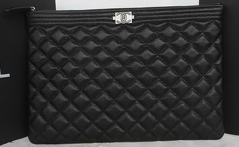 Boy Chanel Cannage Pattern Clutch A69254 Black