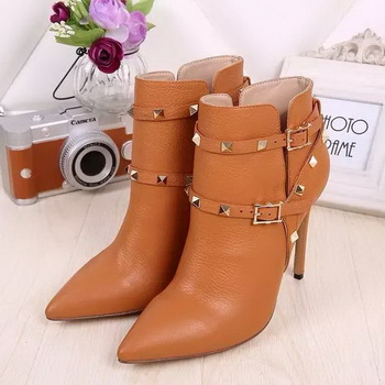 Valentino Ankle Boot Leather VT641 Wheat