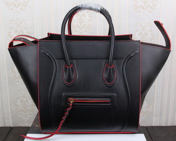 Celine Luggage Phantom Tote Bag Original Leather CT3341 Black
