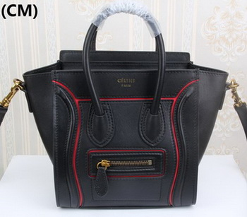 Celine Luggage Nano Tote Bag Original Leather CLY33081S Black