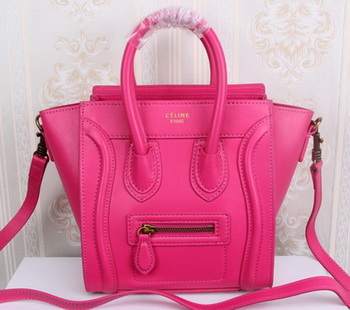Celine Luggage Nano Tote Bag Original Leather CLY33081S Rose