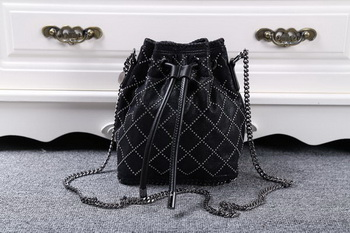 Stella McCartney Falabella Studded Quilted Bucket Bag SMC013 Black