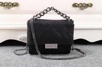 Stella McCartney QUilted Denim Cross Body Bag SMC015 Black