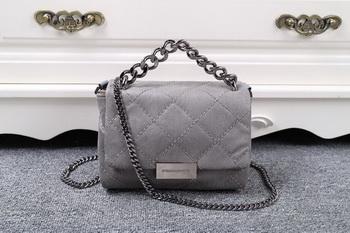 Stella McCartney QUilted Denim Cross Body Bag SMC015 Grey