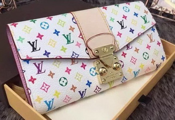 Louis Vuitton Monogram Multicolore PALLAS WALLET M58289 White
