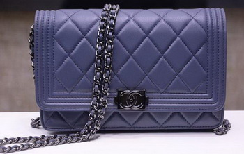 Boy Chanel mini Flap Bags Sheepskin Leather A33815 Lavender