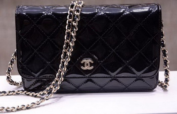 Chanel mini Flap Bag Patent Leather A33814C Black