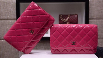 Chanel mini Flap Bag Patent Leather A33814C Rose