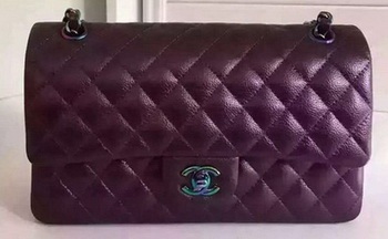 Chanel 2.55 Series Flap Bag Original Deer Leather A1112 Purple