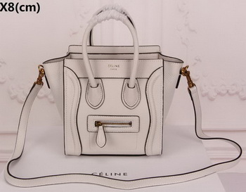 Celine Luggage Nano Tote Bag Original Leather CLY33081S OffWhite