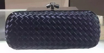Bottega Veneta STRETCH Knot Sheepskin Leather Clutch BV8651 Black