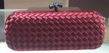 Bottega Veneta STRETCH Knot Sheepskin Leather Clutch BV8651 Burgundy